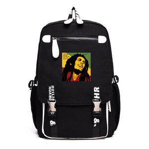 Bob Marley Youth Fashion School Backpack Computer Backpack