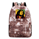 Bob Marley  Youth Teens Polyester School Backpack