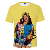 Womens Girls Cardi B Street Style Fashion Polyester Shirt
