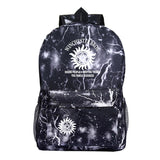 Supernatural Backpack For Students Unisex Girls Boy School Bags