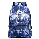 Supernatural Polyester Backpack For Students Unisex Girls Boy School Bags