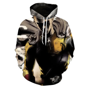 One Punch Man 3D Print Hoodies Youth Adults Sweatshirt