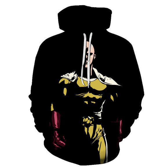 One Punch Man 3D Print Polyester Hoodies Youth Adults Sweatshirt