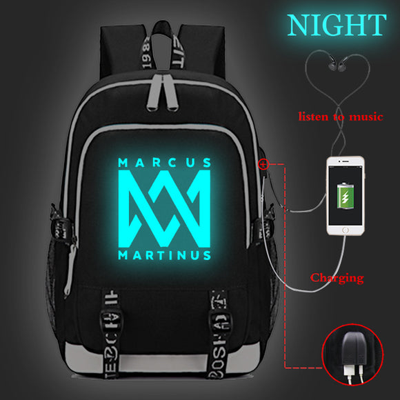 Marcus And Martinus Backpack Bag School Bag Collage Bags Glow In The Dark
