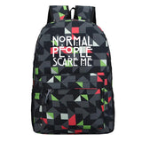 American Horror Story School Polyester Backpack Teens Day Bag