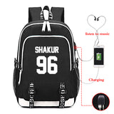 2PAC Tupac Shakur Backpack For Youth Students
