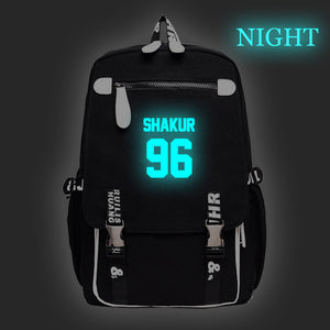 2PAC Tupac Shakur Youth Fashion Backpack Students School Backpack Glow In The Dark