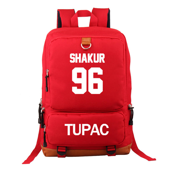 2PAC Tupac Shakur  Hip Hop Fans Backpack Big Capacity Travel Bag