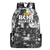 Bob Marley  Youth Teens Polyester School Backpack Bookbags