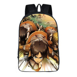 Attack on Titan Shingeki no Kyojin 3D Print Backpack School Book Bag
