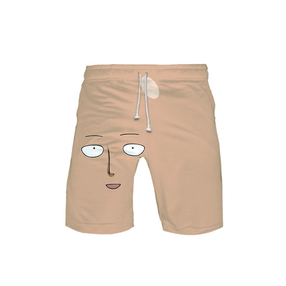 One Punch Man 3D Print Casual Shorts Pants Beach Shorts