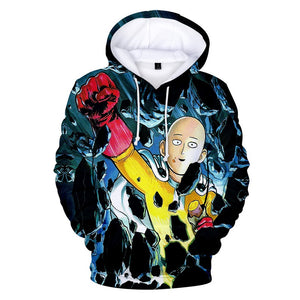 Anime One Punch Man Hoodies - Saitama Pullover Hooded Sweatshirt