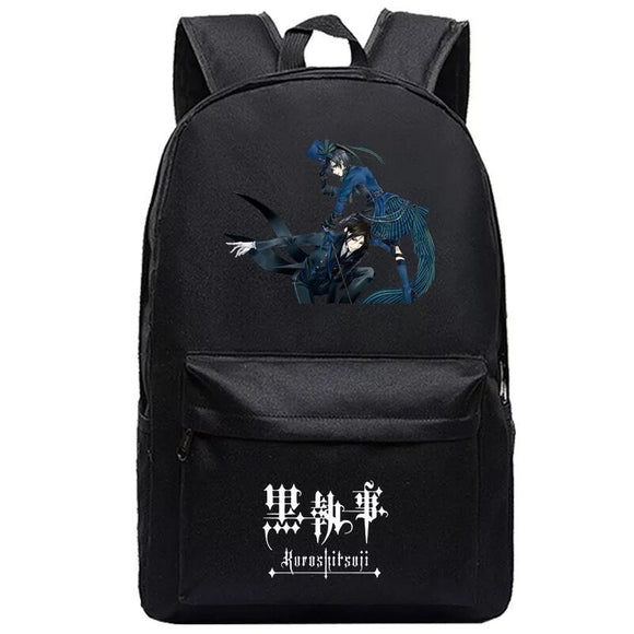 Anime Black Butler Kuroshitsuji Students Backpack Bookbag for Girls and Boys