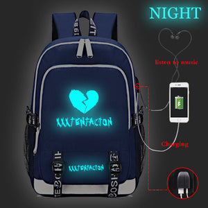 Xxxtentacion Backpack Book Bag School Bag Students Handbag Glow In The Dark