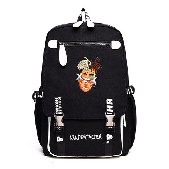 Xxxtentacion Youth Fashion Hip Hop Backpack Students School Bag