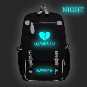 Xxxtentacion Youth Fashion Hip Hop Backpack  Glow In The Dark Students School Bag