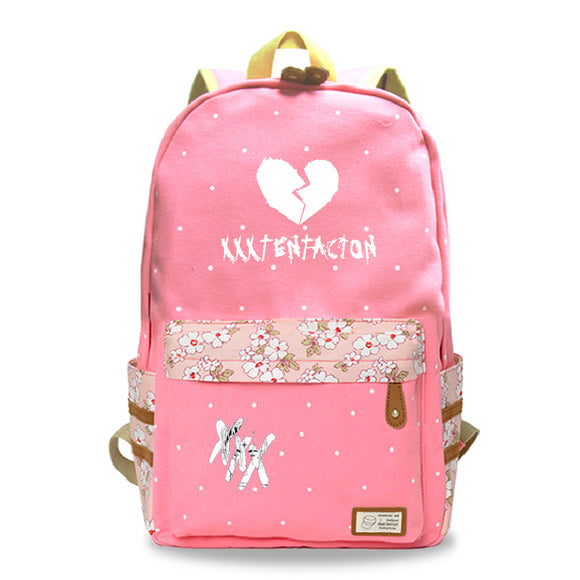 Xxxtentacion Youth Teens Canvas Backpack Students Canvas School Bag Bookbags