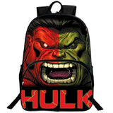 Marvel Youth Backpack Hulk Design School Backpack Bookbags