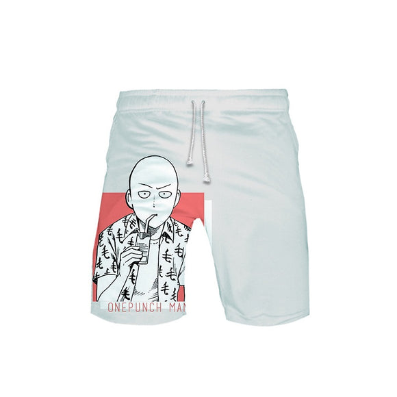 One Punch Man 3D Print Casual Polyester Shorts Pants Beach Shorts