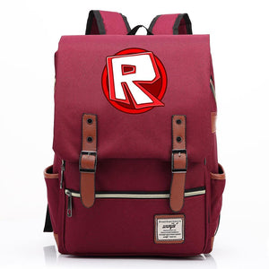 Roblox Students Backpack Youth Fashion Daybag Travelbag