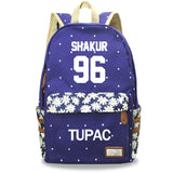 2PAC Tupac Shakur Youth Fashion Hip Hop Backpack Students School Backpack