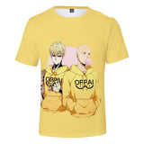 One Punch Man Shirt Japanese Anime Print Short Sleeves Shirt