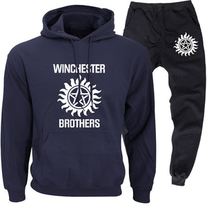 Supernatural Hoodie and Sweatpants Suit set For Adults and Kids