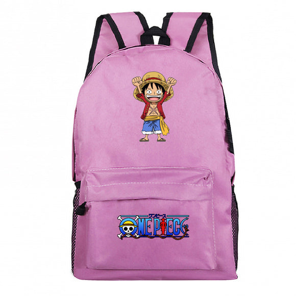 Anime ONE Piece Polyester Backpack Youth  Students Bookbag