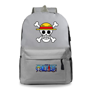 Anime ONE Piece Backpack Youth  Students Bookbag