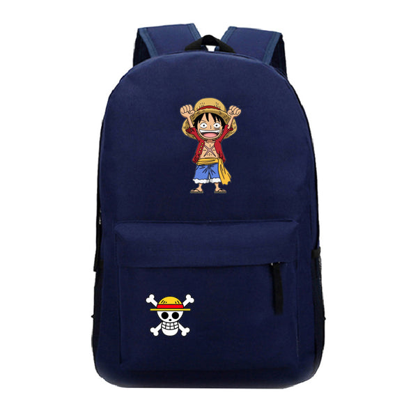 Anime ONE Piece Students Polyester Backpack School Bag Bookbags