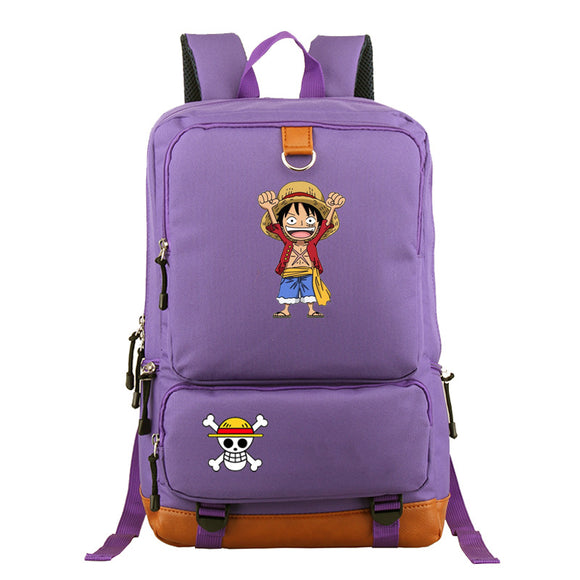 Japanese Anime Bag Japan One Piece Luffy Teenagers Polyester Backpack Rucksac