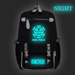 Anime One Piece Luffy Backpack Teenager School Backpack Rucksuck Glow In The Dark