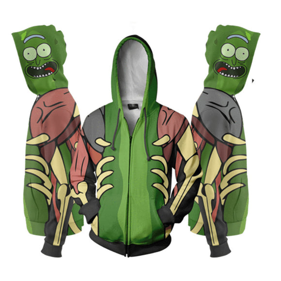 Rick and Morty 3D Print Zipper Hoodies Casual Jacket