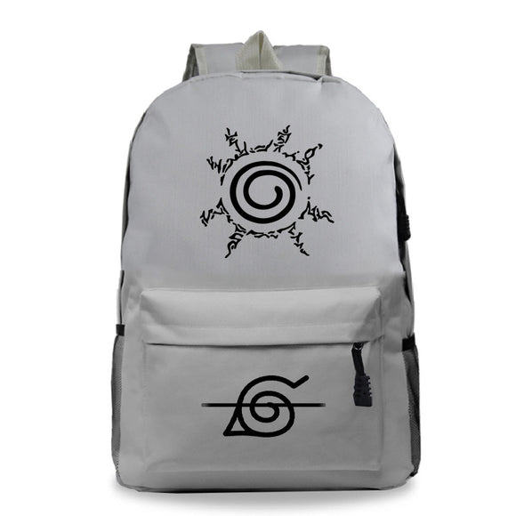Anime Naruto Students Polyester Backpack  Bookbag For Boys and Girls