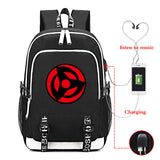 Anime Naruto Rucksuck Polyester Backpack  Student School Bag Bookbag With USB Charging Port