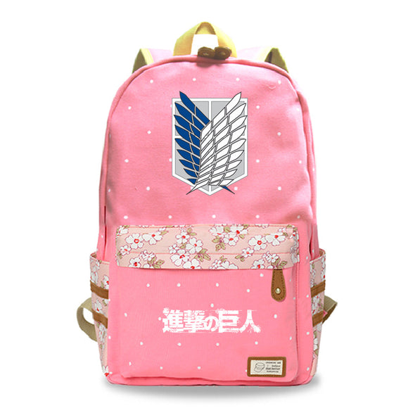Attack on Titan Shingeki no Kyojin Youth School Backpack