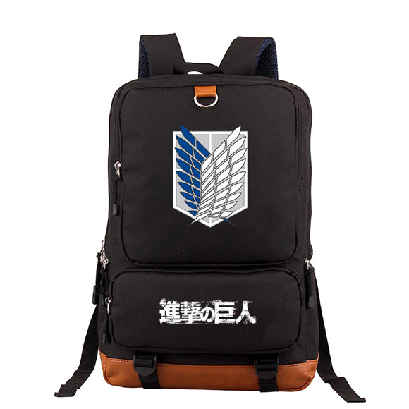 Attack on Titan Shingeki no Kyojin Large Capacity  Rucksack School Backpack Travel Bag Bookbags