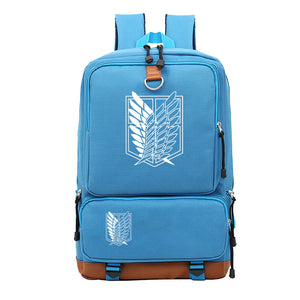 Attack on Titan Shingeki no Kyojin Large Capacity  Rucksack School Backpack Travel Bag