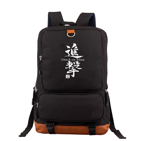 Attack on Titan Shingeki no Kyojin Large Capacity  Rucksack School Backpack Polyester Travel Bag Bookbags