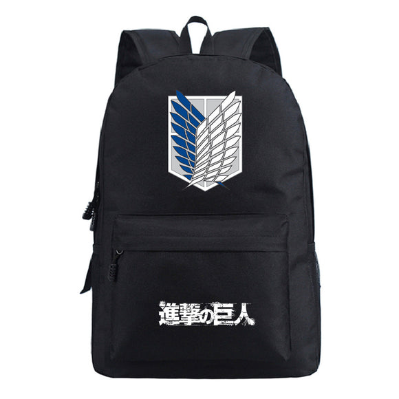 Attack on Titan Shingeki no Kyojin Youth Polyester Backpack Daybag for School