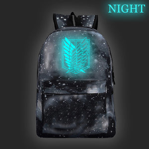 Attack on Titan Shingeki no Kyojin Galaxy Color Backpack For Students Glow In  Dark