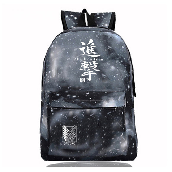 Attack on Titan Shingeki no Kyojin Galaxy Color Backpack For Students