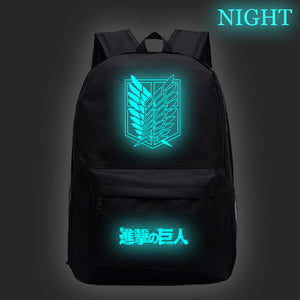 Attack on Titan Shingeki no Kyojin Glow In The Dark Backpack Bookbags