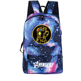 Marvel Thanos Gloves Print Backpack Canvas School Bcakpack Bookbags For Kids