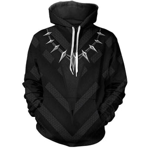 Marvel Black Panther Print  Pull over  Hoodie Unisex Sweatshirt