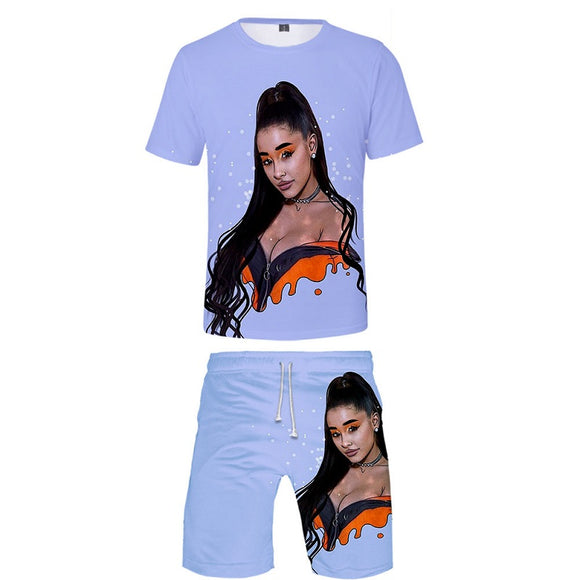 Ariana Grande 3D Print Men's Shirt and Shorts Suit