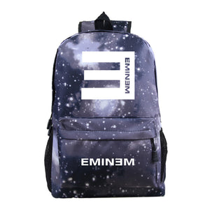 Eminem Youth Fashion Backpack High School Students Backpack