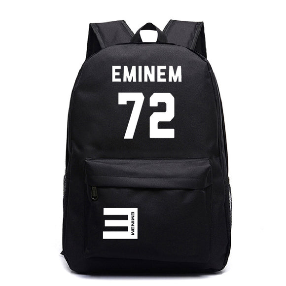 Eminem Youth Fashion Backpack High School Students Eminem 72 Print Backpack