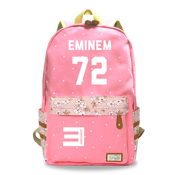 Eminem 72 Printed Backpack Youth Teens Fashion School Backpack
