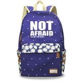 Eminem NOT AFRAID Backpack Youth Teens Fashion School Backpack